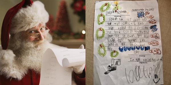"""""""Cười ra nước mắt"""" với những thư gửi ông già Noel của trẻ con"""