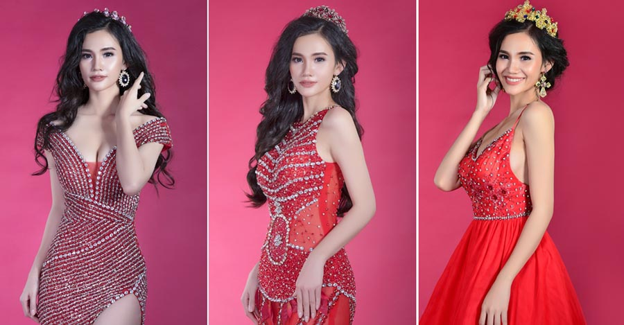 Suri Trương gợi cảm và cuốn hút với váy dạ hội Tommy Nguyễn