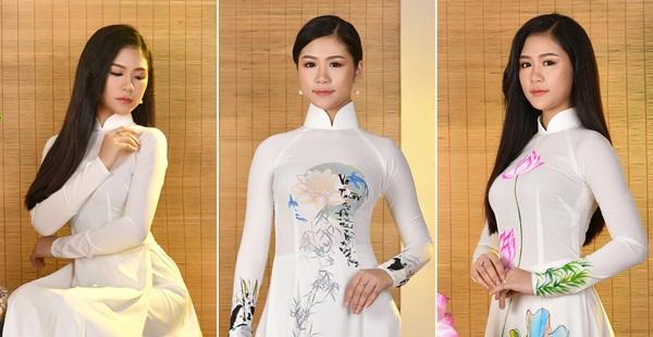 Hotgirl Trinh Ken tinh khôi áo dài trắng du xuân
