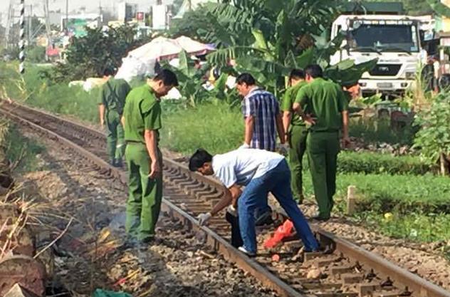 Tàu lửa cán chết người phụ nữ ở Sài Gòn
