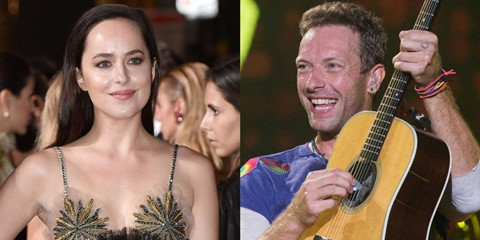 """Sao nữ """"50 sắc thái"""" công khai hẹn hò trưởng nhóm Coldplay"""