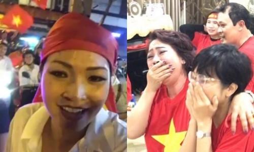 Phương Thanh và dòng người hâm mộ kẹt cứng vì cơn bão U23 Việt Nam