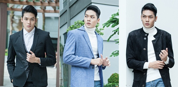 """""""Nam thần"""" Minh Giang nổi bật với những thiết kế vest Tommy Nguyễn"""
