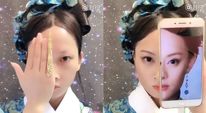 """Cô gái Trung Quốc """"nổi như cồn"""" nhờ tài hoá trang y như thật"""