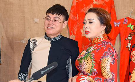 Á khôi Diễm Ngọc lộng lẫy với Áo dài cưới Tommy Nguyễn thêu rồng vàng