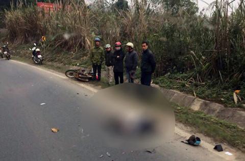 Ô tô tải tông hai người đi xe máy thiệt mạng