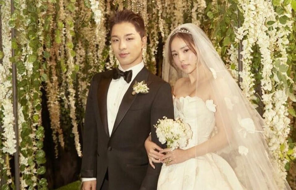 Taeyang (Big Bang) và vợ hạnh phúc khiêu vũ trong tiệc cưới