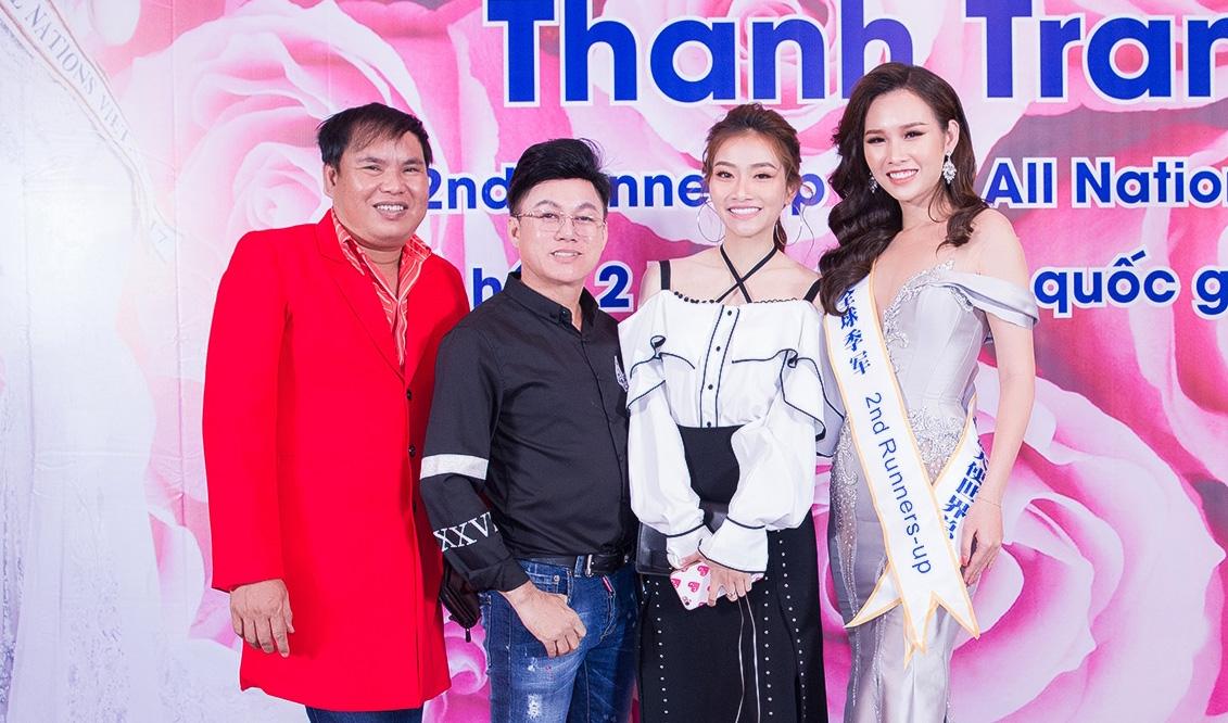 Á Hậu Thanh Trang khoe nhan sắc quyến rũ trong tiệc mừng đăng quang