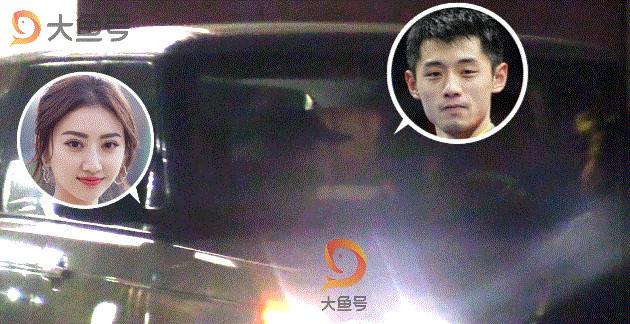 Cảnh Điềm lộ ảnh âu yếm ngôi sao bóng bàn Trung Quốc trong xe hơi