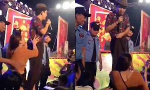 Dương Triệu Vũ, Trường Giang bị sàm sỡ khi biểu diễn dịp tất niên