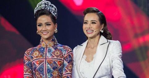 Hoa hậu H'Hen Niê giúp Kiều Ngân đăng quang Én vàng 2017