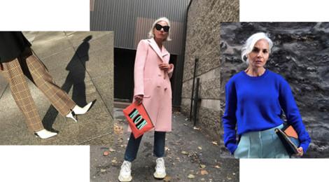 Phong cách thời trang sành điệu của người mẫu 52 tuổi