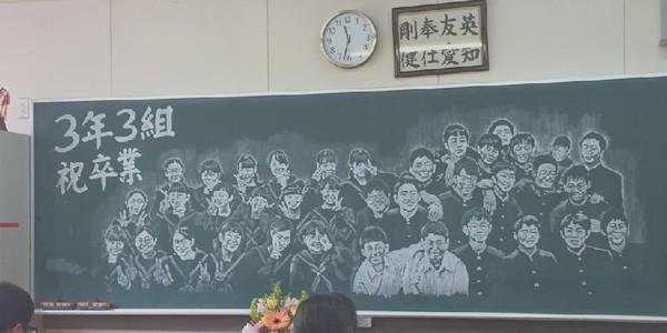 Cô giáo thức suốt 14 tiếng vẽ chân dung cả lớp lên bảng ngày chia tay
