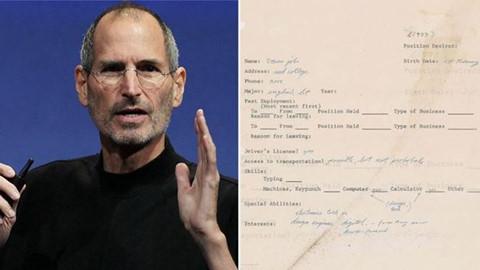 Thư xin việc đầy lỗi chính tả của Steve Jobs có giá 175.000 USD