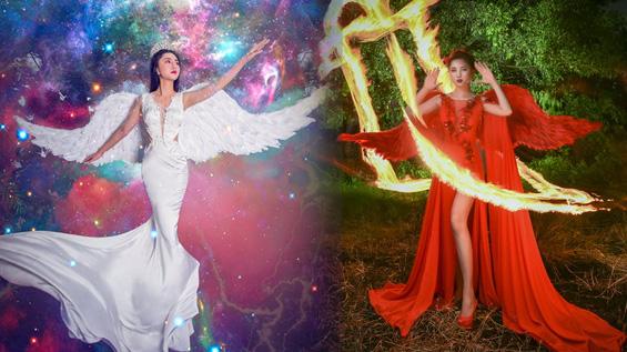 """Mỹ Huyền hóa """"thiên thần"""" trong BST mới của NTK Tommy Nguyễn"""