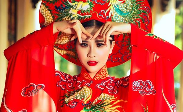 Người đẹp Áo dài Quỳnh Như rạng ngời trong thiết kế mới của NTK Tommy Nguyễn