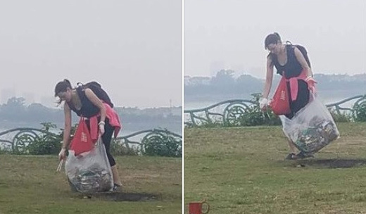 Cô gái Tây dọn rác ở Phủ Tây Hồ: Nhà mình sao để khách làm hộ?