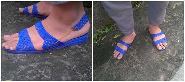 Thích thú với đôi sandal được chế từ dép tổ ong