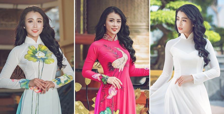 Xao xuyến ngắm top 15 Hoa hậu Đại Dương Tuyết Nhi thướt tha áo dài