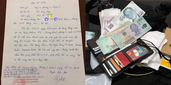 Chàng trai tìm lại được túi, ví và tiền sau khi bị cướp ở Sài Gòn
