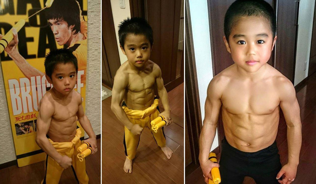 Cậu bé 8 tuổi múa côn y hệt Lý Tiểu Long khiến nhiều người kinh ngạc