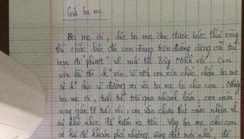 Bất ngờ với bức tâm thư của chàng trai gửi bố mẹ xin đi phượt