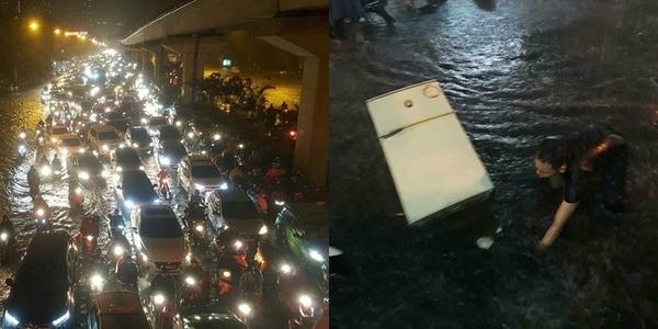 """Hà Nội ngập đến """"ám ảnh"""" sau cơn mưa lớn nhất từ đầu năm đến nay"""