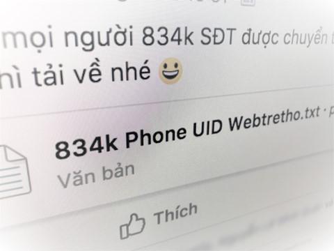 Thành viên trang Facebook Webtretho bị lộ số điện thoại?