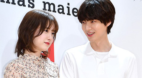 """""""Nàng cỏ"""" Goo Hye Sun và chồng trẻ lần đầu xuất hiện cùng nhau"""