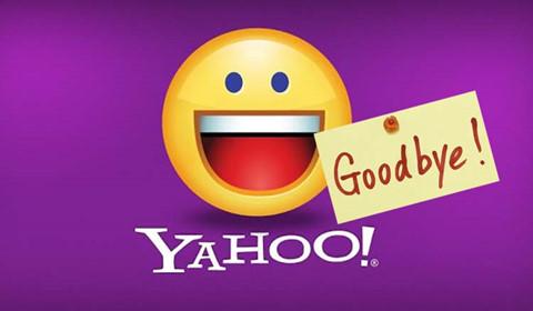 Yahoo Messenger gửi mail tạm biệt người dùng