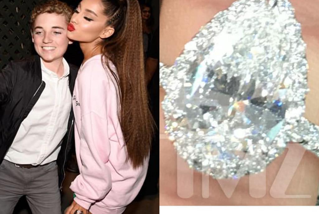 Bạn trai tặng nhẫn đính hôn 100.000 đô cho Ariana Grande