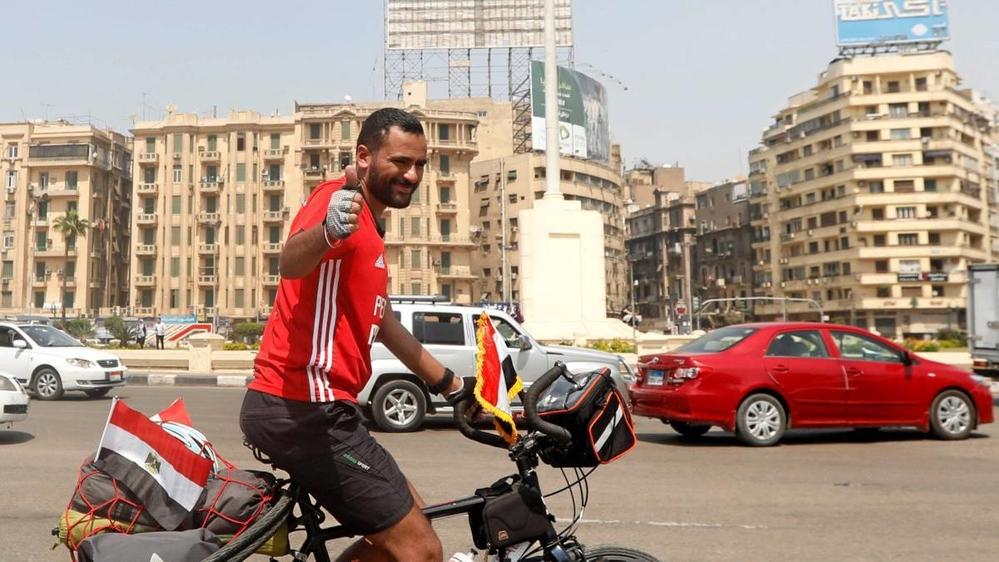 Đạp xe hơn 5.000 km để đi xem World Cup 2018 của chàng trai Ai Cập