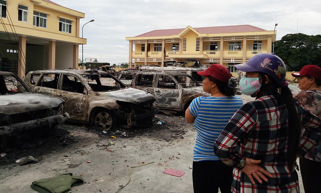 Công an kêu gọi người quá khích ở Bình Thuận ra đầu thú
