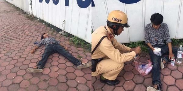 Người đàn ông bị ngất giữa đường khi đi xin việc được CSGT giúp đỡ