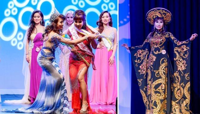 Talina Kim với Áo dài Tommy Nguyễn đoạt hai danh hiệu trong cuộc thi nhan sắc