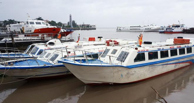 Tàu cao tốc tạm ngưng ra Côn Đảo, Phú Quốc