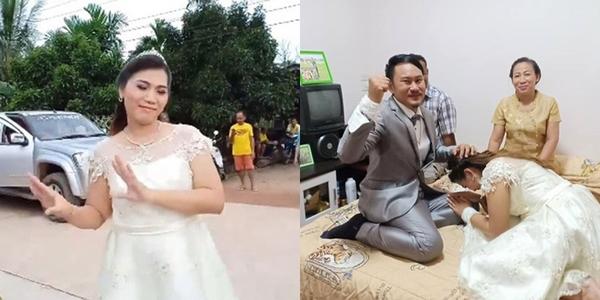 Đám cưới lạ đời: Cô dâu mang sính lễ qua nhà trai xin cưới chú rể