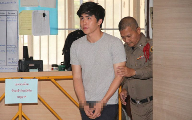 Tài tử nổi tiếng Thái Lan bị bắt ngay trên phim trường