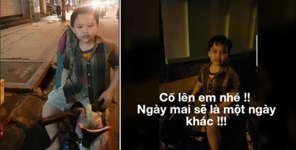 Cậu bé 9 tuổi đi 20km lượm ve chai mỗi ngày