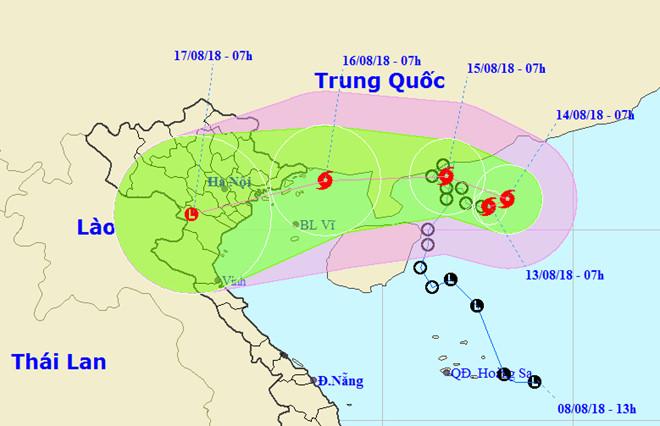 Bão số 4 - Bebinca sắp vào vịnh Bắc Bộ, miền Bắc mưa lớn
