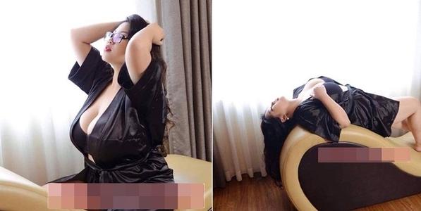 """Hotgirl vòng ngực 110cm tung ảnh sexy khoe sự căng đầy """"siêu khủng"""""""