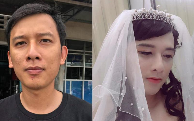 Chồng biến thành cô dâu bất đắc dĩ vì vợ thiếu mẫu trang điểm