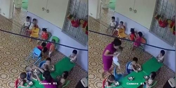 Bé trai 2 tuổi bị cô giáo mầm non nhồi nhét thức ăn