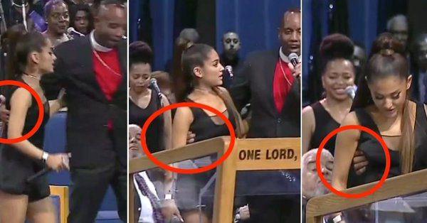 Ariana Grande bị mục sư sàm sỡ tại lễ tang danh ca Aretha Franklin