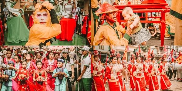 Độc đáo hàng nghìn người dân xuống đường diễu hành Lễ hội Nghinh Ông