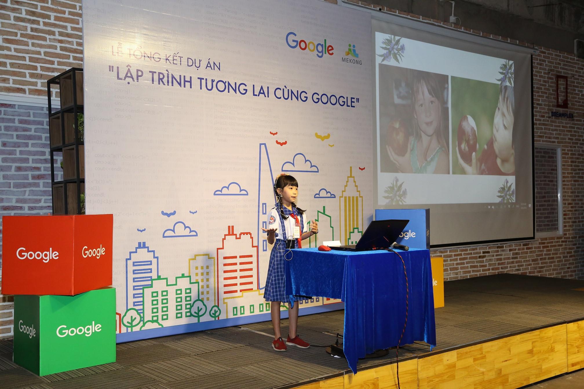 Lập trình viên nhí Việt Nam giành suất đến Google