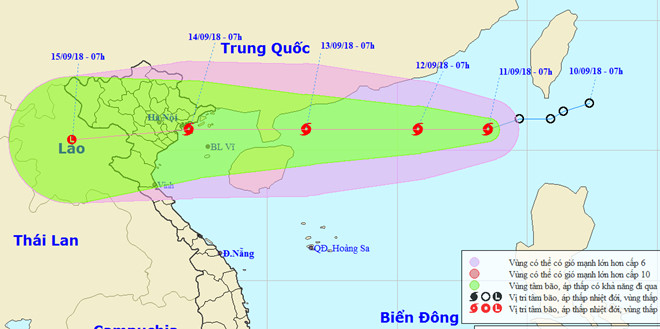 Biển Đông đón cơn bão số 5, Bắc Bộ mưa lớn