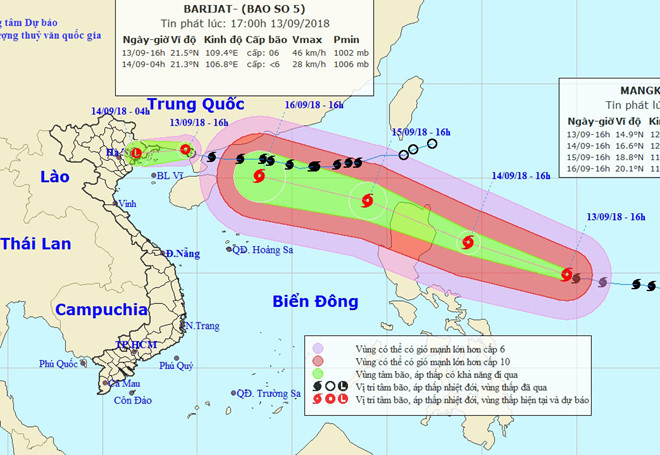 Siêu bão Mangkhut tiến nhanh về Biển Đông