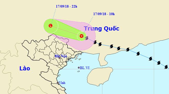 Bão số 6 - Mangkhut tan trên đất liền Trung Quốc