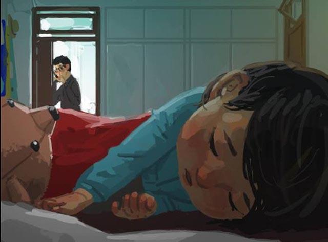"""Bộ tranh đầy cảm động về tình cha con """"gây sốt"""" cư dân mạng"""